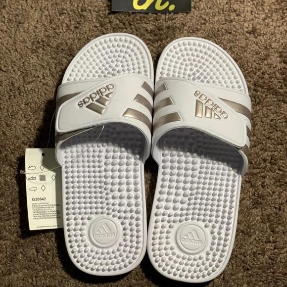 adidas adissage white